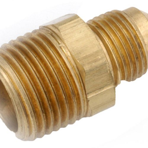 anderson metals corp 714048-1012 5/8 -Inch Flare x 3/4 -Inch Male Iron Pipe Thread, Brass Flare Connector - Male Iron Pipe Thread