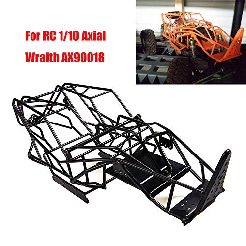 Axial Wraith Roll Cage Steel Frame Body Cage for RC 1/10 Scale Axial Wraith AX90018 Crawler, Black
