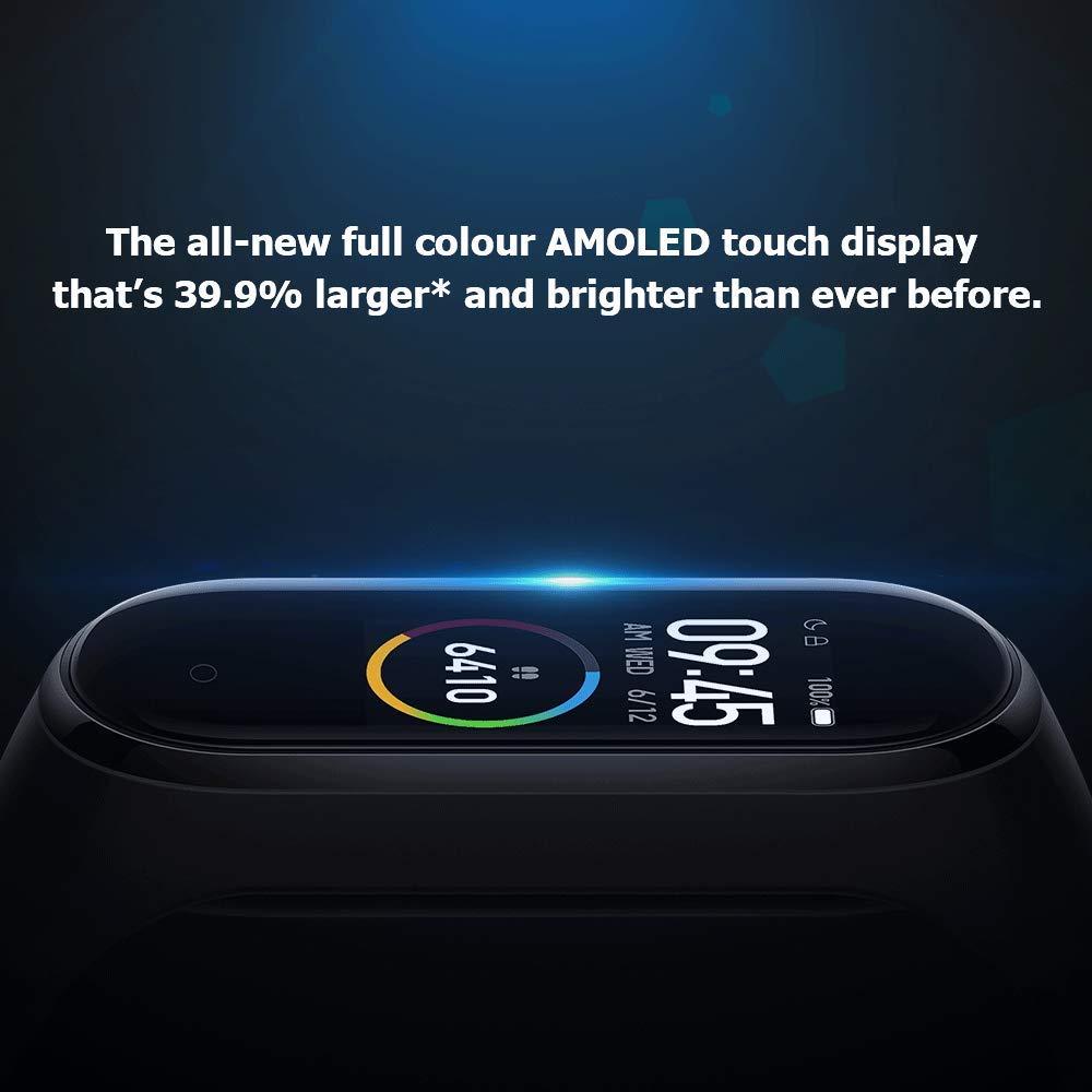 Xiaomi Mi Band 4 Pulsera Pantalla a Todo Color 0.95 Pantalla t/áctil AMOLED Rastreador de Ejercicios Pulsera Inteligente Bluetooth Monitor de Ritmo card/íaco Pulsera Actividad Deportiva Negro
