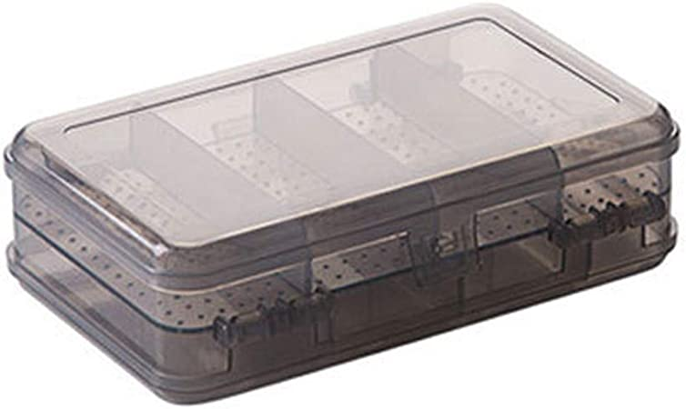 Shipwreck Beads Plastic Bead Storage Flower Shaped Box with 7 Compartments Clear 4-Pack 4-Inch
