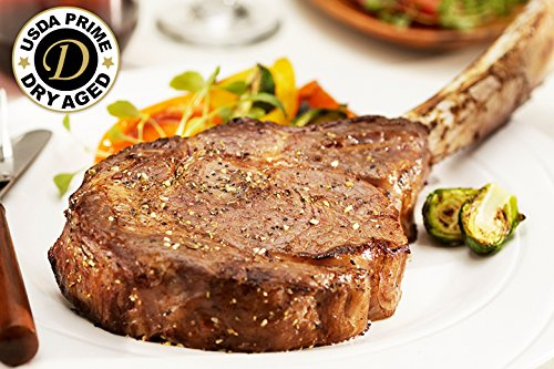 Premium Angus Beef - 2 (30oz) Dry Aged Tomahawk Ribeyes - Chicago Steak Company - PSD173 2 ()