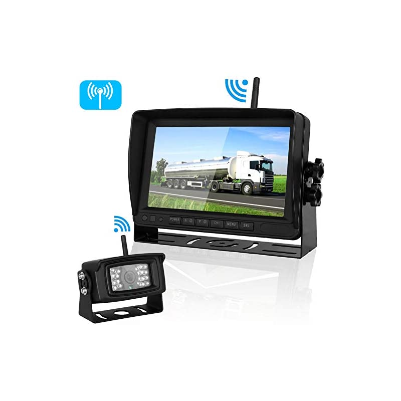 Digital Wireless Backup Camera 7''Monito