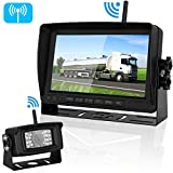 "Digital Wireless Backup Camera&7""Monitor High-Speed Observation System for RV/SUV/Pickup/Van/Truck/Trailer Driving&Reversing Use IP69K Waterproof Night Vision Guide Lines ON/Off For Sale"