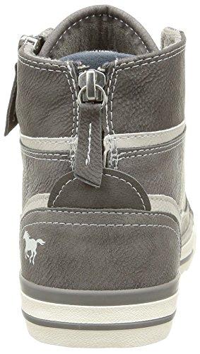 Mustang Schnürhalbschuh - zapatillas deportivas altas de material sintético mujer gris - Grau (2 grau)