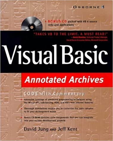 Visual Basic Annotated Archives: Annotated Archives by David Jung (1999-03-18)