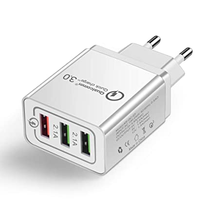 OWEM Cargador USB Pared con 3 Puertos USB, Quick Charge 3.0 ...