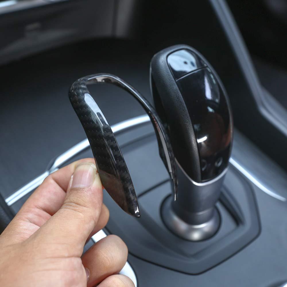 per Accessori Auto Giulia Stelvio 2017-2019 Copertura per Testa del Cambio in Fibra di Carbonio YIWANG in plastica ABS