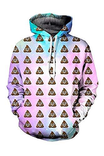 0e8685a67 Adult Products Premium Upgrade Unisex Funny 3D Graphics Printing Hooded  Sweatshirt Kangaroo Pocket,Large,