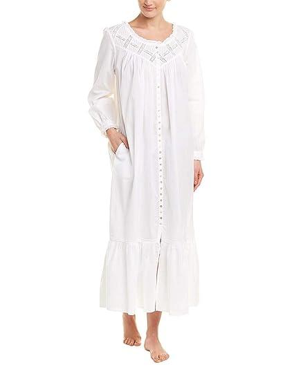 546c573ed0 Eileen West Women s Cotton Lawn Ballet Button Front Coat White X-Small