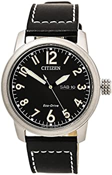 Citizen Eco-Drive Chandler Black Dial Men's Leather Watch