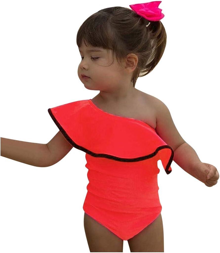 BUKINIE-B/éb/é Fille Une Pi/èce Maillot de Bain Bretelle Bikini Tankini V/êtements de Plage Bodysuit /Ét/é Beachwear Froufrous Costume de Natation