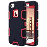 iphone 5 case red and black - iPhone SE Case,iPhone 5S Case, iPhone 5 Case, ULAK KNOX ARMOR Heavy Duty Shockproof Sport Rugged Drop Resistant Dustproof Protective Case Cover for Apple iPhone 5 5S SE-Red / Black