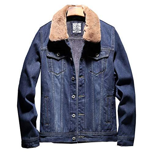 Suédés Blue Hommes Comfort Blousons Édition Dark Fashion Jeans Leisure Coréenne Jacket Cheveux D'agneau Épaissis Et SZnqwA86x