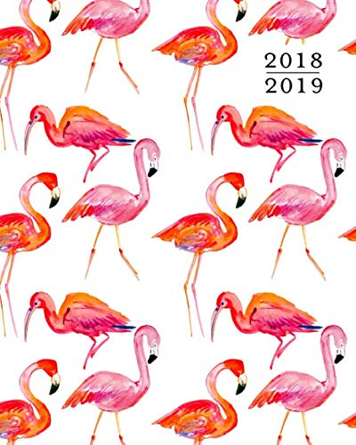 (2018 - 2019 Weekly Planner: Flamingo Pink Watercolor 16 Month Agenda Book, Sept 2018 - Dec 2019)