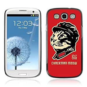 Designer Depo Hard Protection Case for Samsung Galaxy S3 / Chairman Cat