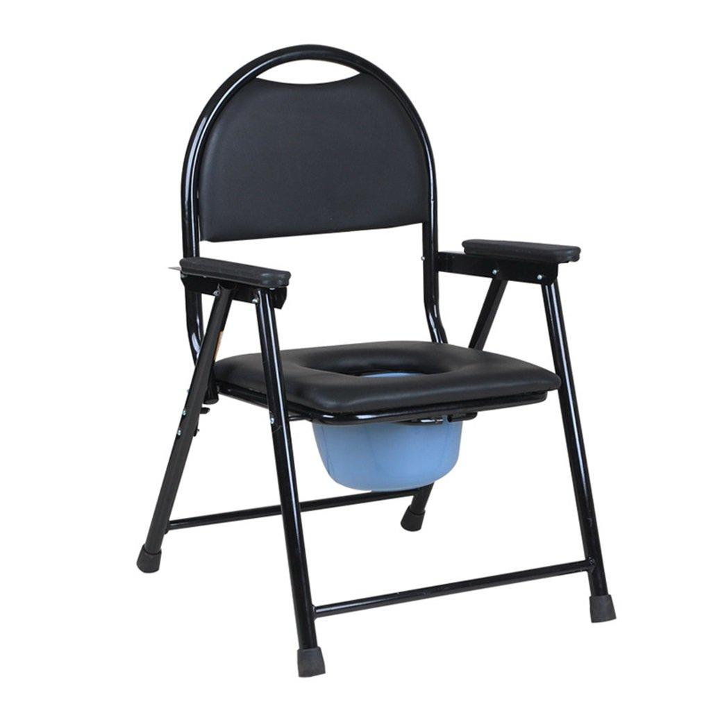 快適で柔らかい妊婦のトイレ椅子トイレ椅子高齢者の人の折り畳み式の入浴用便リムーバブルトイレ障害者用スチールチューブトイレチェア最大150kg B07DJ2899N