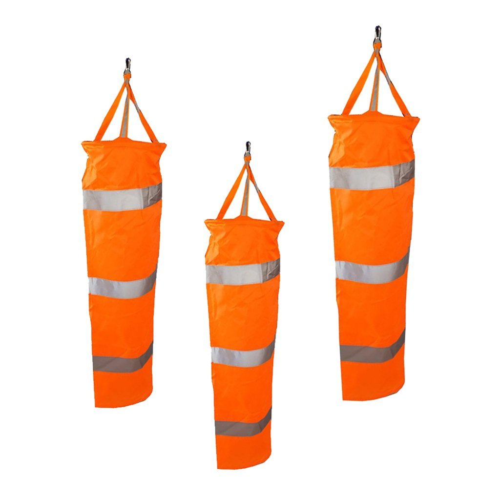 D DOLITY 3X Outdoor Aviation Windsock Wind Sock Bag Set Measurement Reflective Belt