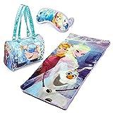 Disney Frozen Anna, Elsa & Olaf 3 Piece Sleeping Bag / Sleepover Set