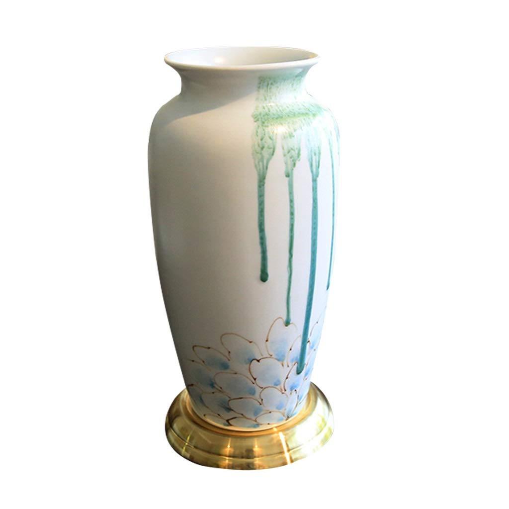 MAHONGQING 新古典的な蓮の花ゴールド花瓶花ホームモデルルームヴィラリビングルームダイニングルーム花瓶装飾 B07T233GFT