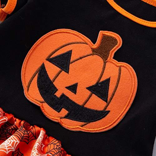 pigiamino Halloween Pagliaccetti Giuntura corta bambino principessa Vestito baby vestito BYSTE Filato stampa adorabile Bodysuit zucca Top tut Manica netto da tnxqXg1