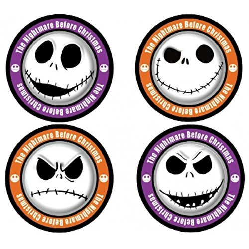 Nightmare Before Christmas Jack Skellington 4-Piece Coaster Set, One Size, Multicolor
