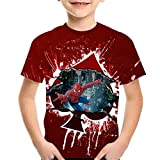 Tsyllyp Boys Girls Spider-Man T-Shirt Superhero 3D Print Shirts