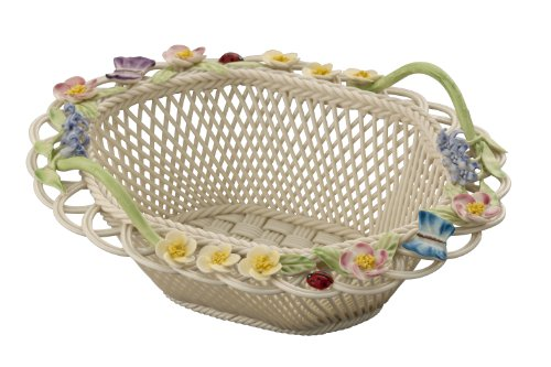 Belleek 3595 Basket, Blue Bell