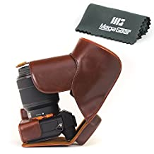 """MegaGear """"Ever Ready"""" Protective Leather Camera Case, Bag for Sony Alpha a7 II, a7R II, & a7S II Mirrorless Digital Camera and Lenses (Dark Brown)"""