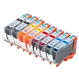 8 Pack - Compatible Ink Cartridges for Canon CLI-221 CLI-221BK CLI-221C CLI-221M CLI-221Y Inkjet Cartridge Compatible With Canon PIXMA IP3600 PIXMA IP4600 PIXMA IP4700 PIXMA MP540 PIXMA MP560 PIXMA MP620 PIXMA MP620B PIXMA MP640 PIXMA MP640R