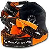 """(2 Pk) GearAmerica Tow Strap 3""""x20' + Tree Saver Winch Strap 3""""x8' Value Bundle 