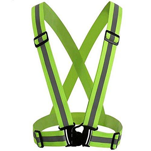 Gabbana Designer Belts (Raking Reflective Visibility Adjustable Vest for Running, Riding, Walking,Jogging Cycling Fits Outdoor Safety Clothing-Belts Light)
