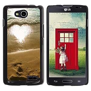 Be Good Phone Accessory // Dura Cáscara cubierta Protectora Caso Carcasa Funda de Protección para LG OPTIMUS L90 / D415 // Love Sun Summer Beach Surf Sand