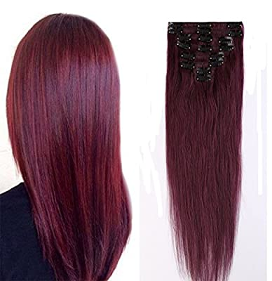 16-22inch 100% Real Remy Clip in Hair Extensions Grade AAAAA Natural Hair Full Head Standard Weft 8 Pieces 18 Clips Long Smooth Soft Silky Straight