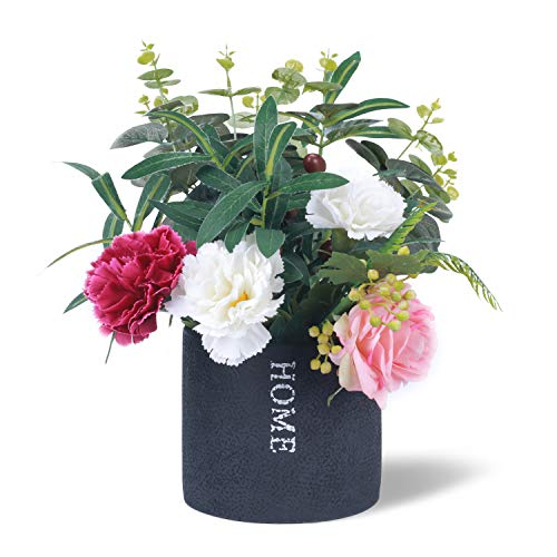 West Beauty Distressed Cement Garden Planter Pot, Antique Round Plant Container with Drain Hole, Decorative Flower and Succulent Vase for Window and Outdoor, Black (Home) ()