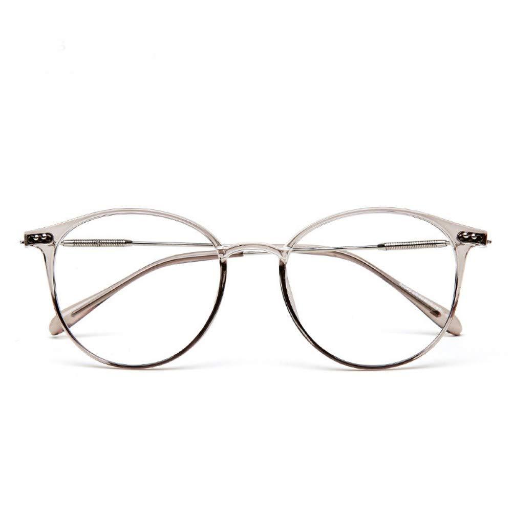 Girls tide transparent///anti-blue radiation computer flat light goggles frame progressive brown flat lens