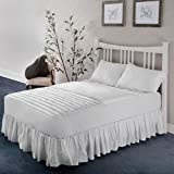 WellRest Health Solutions Zoned Back Support Mattress Pad WhiteTwin XL