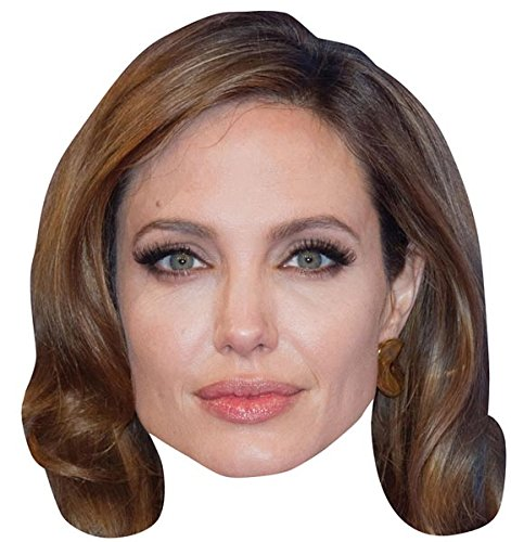 Angelina Jolie Celebrity Mask, Cardboard Face and Fancy Dress Mask (Celebrity Face Masks)