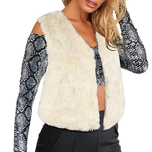 - TnaIolr Womens Ladies Sleeveless Solid Waistcoat Solid Winter Loose Vest Coat Beige,Black