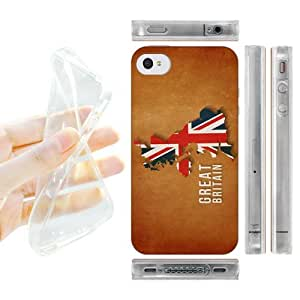 Head Case Designs Great Britain Country Flag Maps Soft Gel Back Case Cover for Apple iPhone 4 4S by ruishername