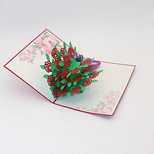 Holzkary Pop Up Card, 3D Card, G...