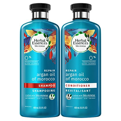 Herbal Essences Bio:renew Argan Oil of Morocco Shampoo and Conditioner Bundle Pack, 13.5 Fluid Ounces Each Paraben Free (Pack of 2)