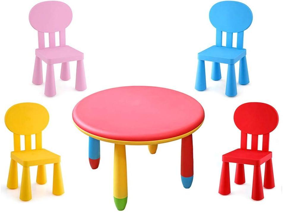 Arredamento Giordanoshop Tavolo Rotondo O 70 Cm Con 4 Sedie Per Bambini Plastica Kids Joy Casa E Cucina Visonic In