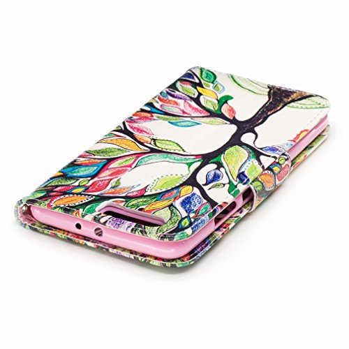 Yiizy Huawei P10 Plus Funda, Color Trees Diseño Solapa Flip Billetera Carcasa Tapa Estuches Premium PU Cuero Cover Cáscara Bumper Protector Slim Piel Shell Case Stand Ranura para Tarjetas Estilo