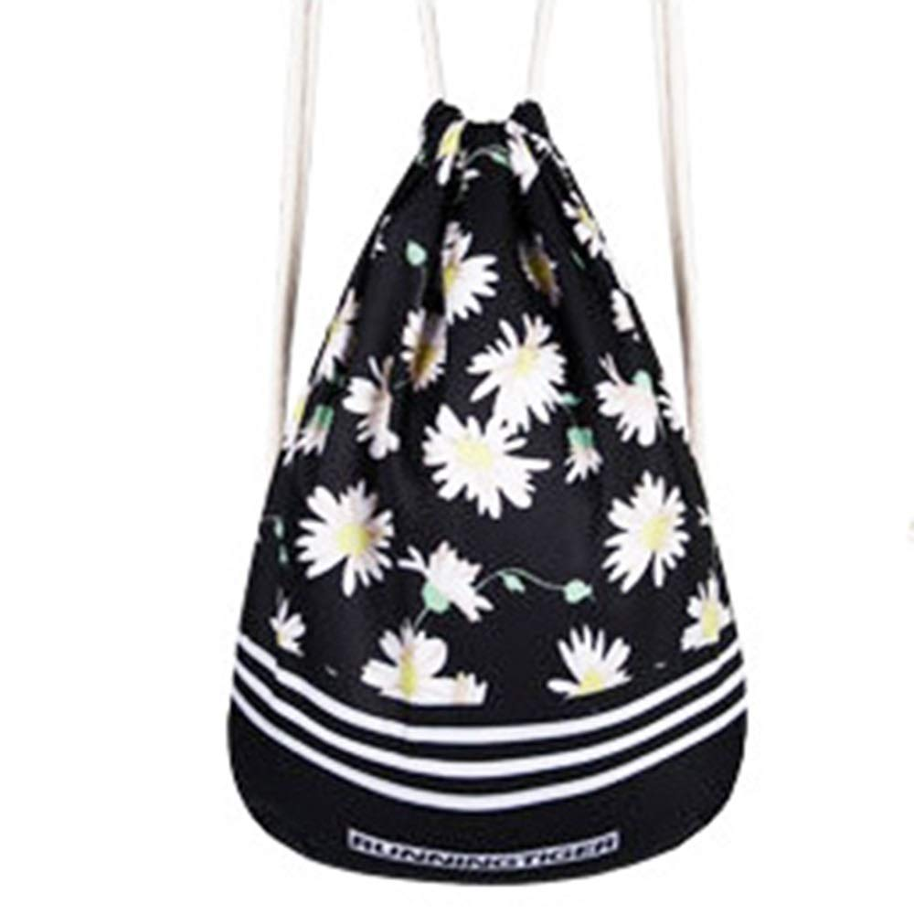 TOMSSL Personality Backpack Drawstring Backpack Polyester Reduced Breathable Yoga Bag Unisex Backpack Bundle Pocket Suitable for Fitness Shopping Size 4436cm Beautiful,