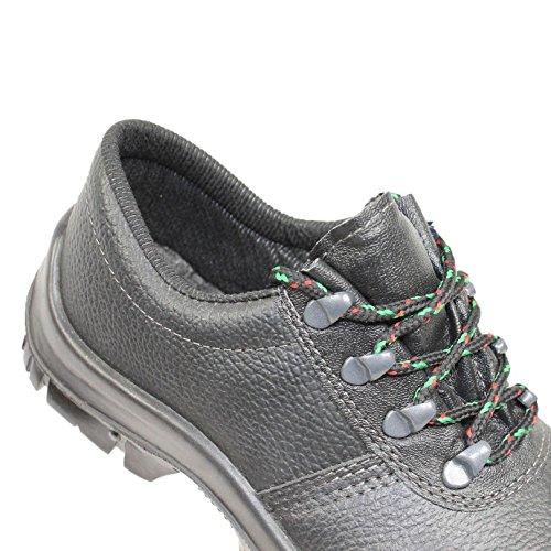 Feldtmann - Chaussures De Protection Homme Noir Noir En Cuir, Couleur Noir, Taille 38