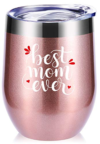 Mothers Day Gifts.Best Mom Ever Wine Glass Tumbler With Funny Sayings.Mom Birthday Gifts,New Mommy gifts,Mom Gifts,Christmas Gifts.Gifts For Mom To Be,Momlife Mug
