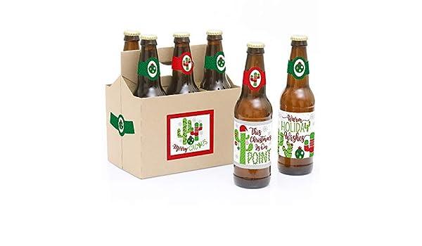 Merry Cactus – 6 pegatinas de etiquetas para botellas de cerveza ...