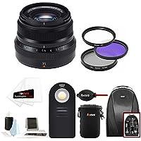 Fujifilm 35mm f/2 WR Lens (Black) w/Focus Accesory Bundle & Camera Backpack