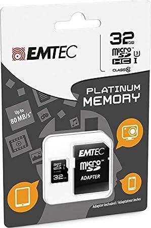 Emtec 32GB microSD Memoria Flash Clase 10 - Tarjeta de ...