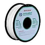 HONGDAK, 3D PLA Printing, 3D Printer Filament, Dimensional Accuracy +/- 0.03 mm, 1KG Spool(2.2LBS), 1.75 mm, White, PLA-1000g-1.75mm-WHITE